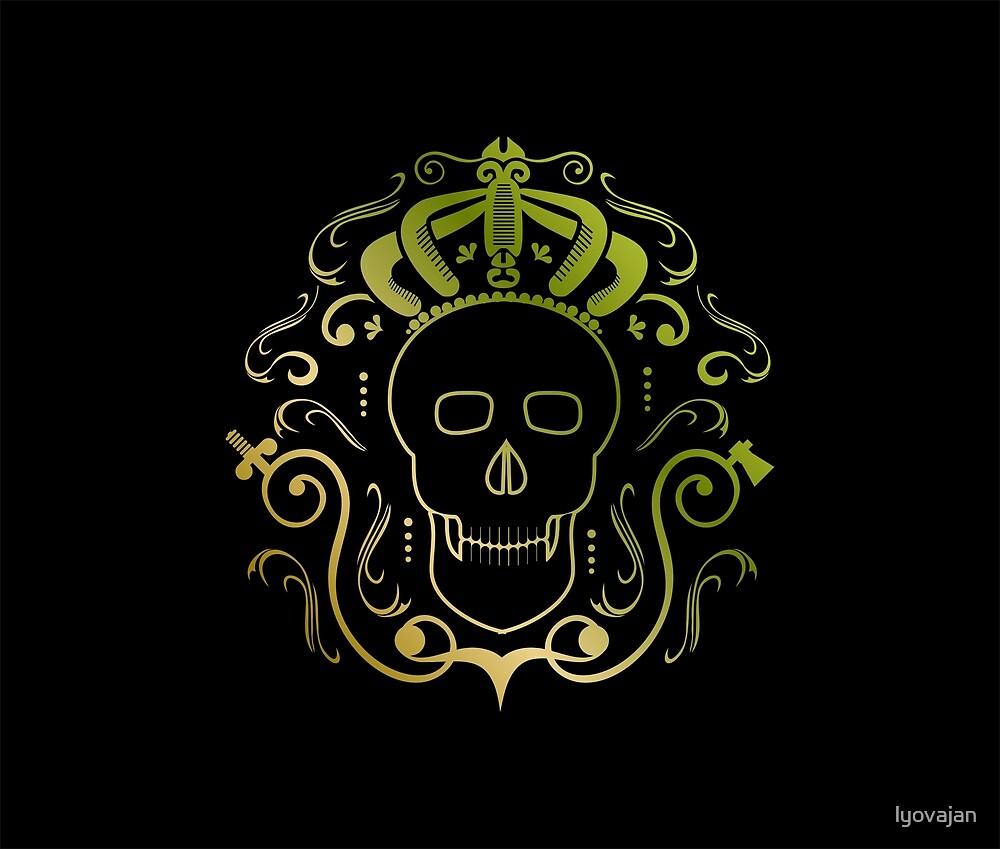 King skull  #redbubble #decor #buyart #artprint by lyovajan