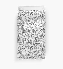 Doodle kitty cats Duvet Cover