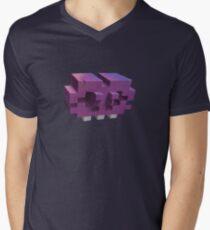 Invading The Third Dimension Men's V-Neck T-Shirt