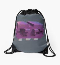 Invading The Third Dimension Drawstring Bag
