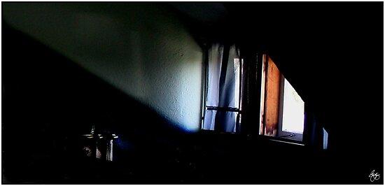 Lightplay Across an Attic Dormer by Wayne King