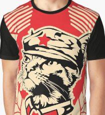 The Mini Kitty Commune Flag Graphic T-Shirt