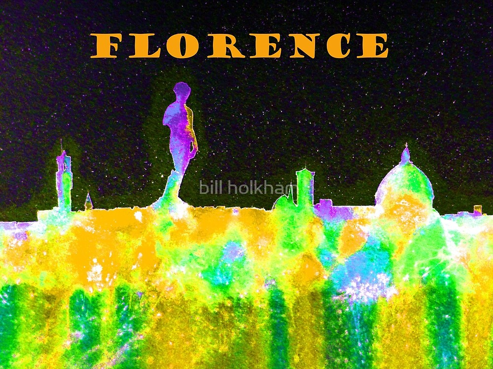 Florence Italy Skyline With Orange Banner by bill holkham
