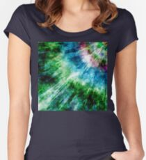 Abstract Grunge Tie Dye Women's Fitted Scoop T-Shirt