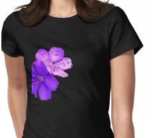 tibouchina flower Womens Fitted T-Shirt