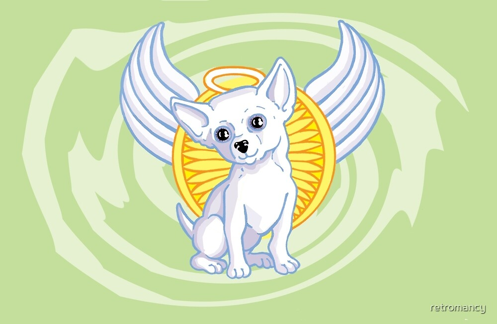 Christmas Angel Chihuahua by retromancy