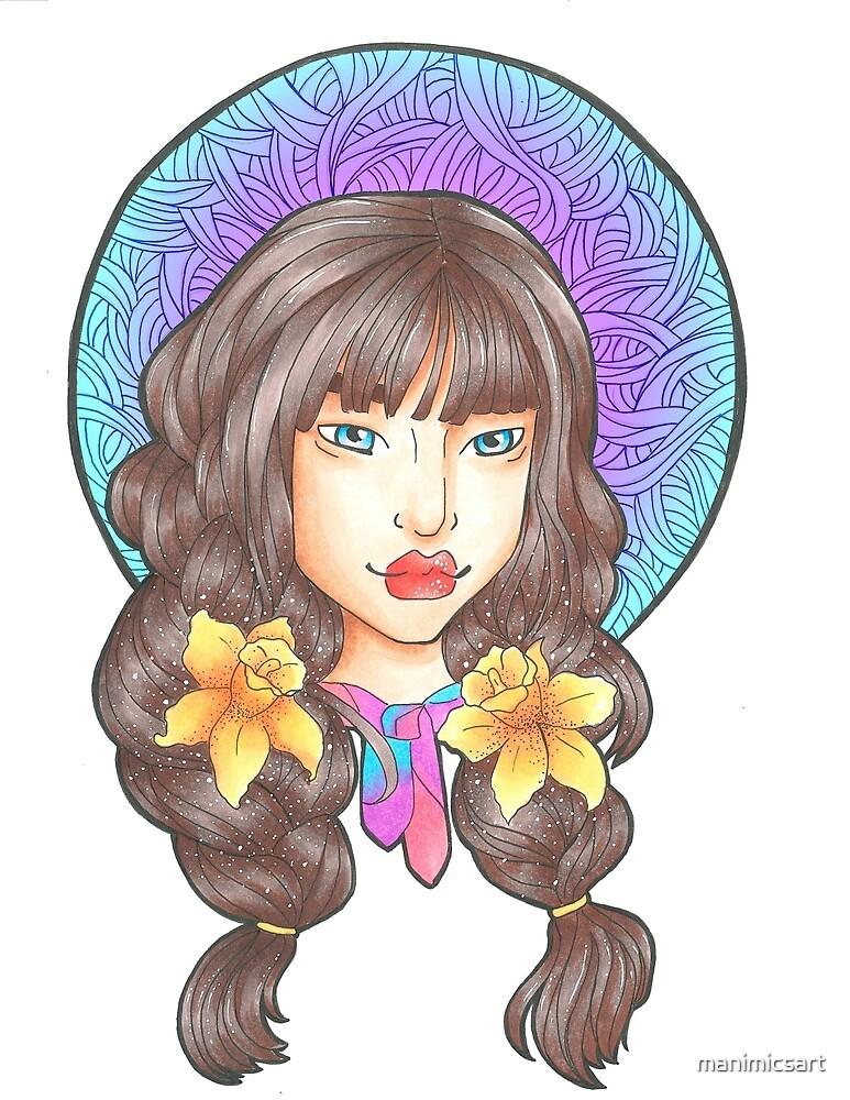 Flower Portrait by manimicsart