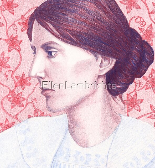 portrait of writer Virginia Woolf by EllenLambrichts