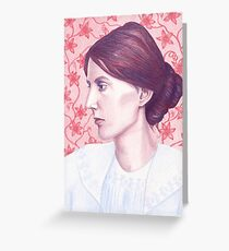 Famous writer drawing greeting cards redbubble portrait of writer virginia woolf greeting card m4hsunfo