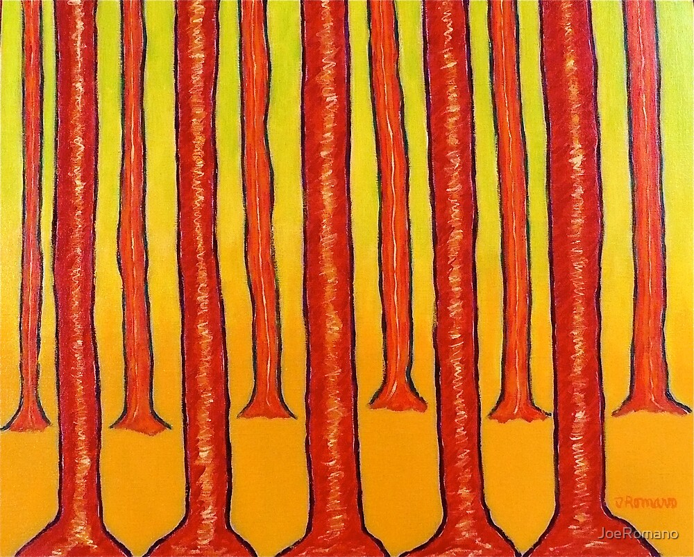RED TREES by JoeRomano