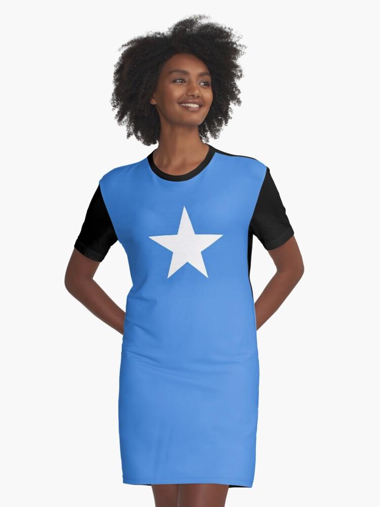 Flag of Somalia Graphic T-Shirt Dress Front