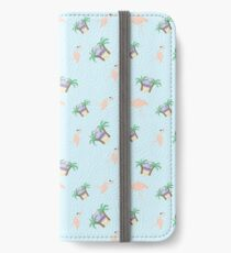 Flamingo and palm tree pattern iPhone Wallet/Case/Skin