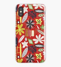 beachy red iPhone Case