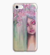 pop surreal abstract fairy butterfly rose contemporary  iPhone Case/Skin