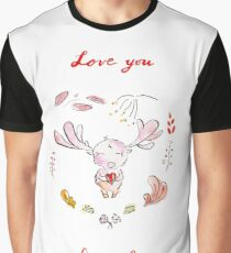 Love you deerly! Graphic T-Shirt