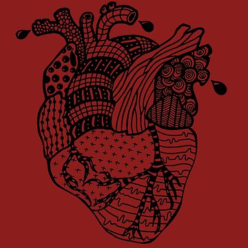 Zentangle Heart by WillJackSleep