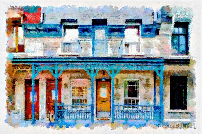 Facade III - watercolour by Photos by Healy