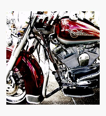 red harley Photographic Print
