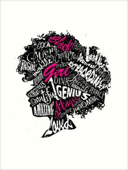 Quot Black Girl Magic Quot Art Print By Kebart Redbubble