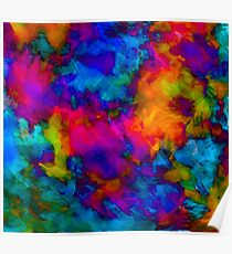 vibrant abstract color explosion  Poster
