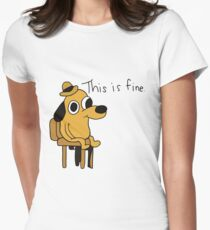 This is Fine Women's Fitted T-Shirt