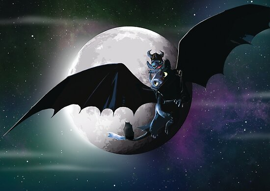 Stich and toothless by LiamShawberry
