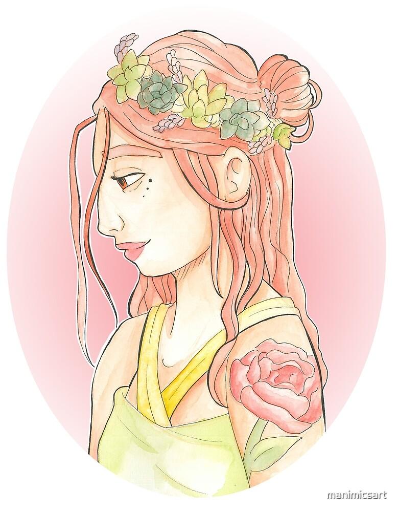 Succulent Crown by manimicsart