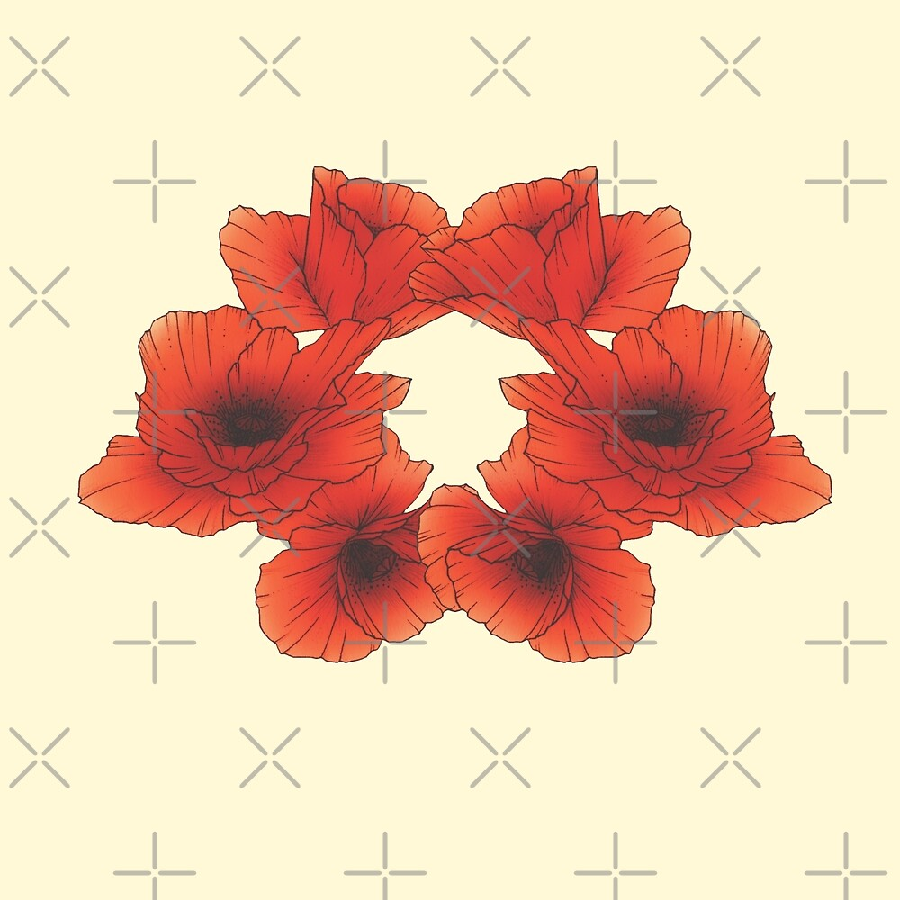 Coquelicots by Olivia Tinguely