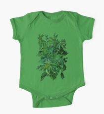 """""""Green & Black"""", summer greenery, floral art, pastel drawing Kids Clothes"""