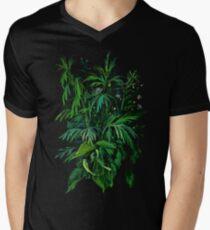 """Green & Black"", summer greenery, floral art, pastel drawing T-Shirt"