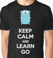 Keep calm and Learn Go - Dark edition Graphic T-Shirt