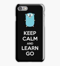 Keep calm and Learn Go - Dark edition iPhone Case/Skin