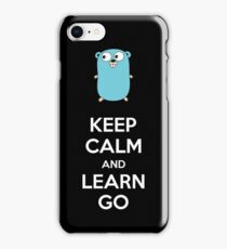 Keep calm and Learn Go - Dark edition iPhone Case/Skin
