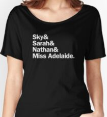 Guys and Dolls Characters | White Women's Relaxed Fit T-Shirt