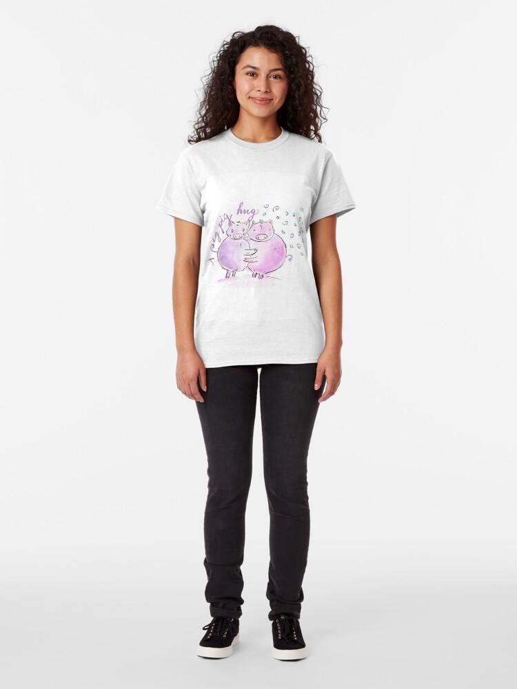 Alternate view of A pig pig hug! Classic T-Shirt