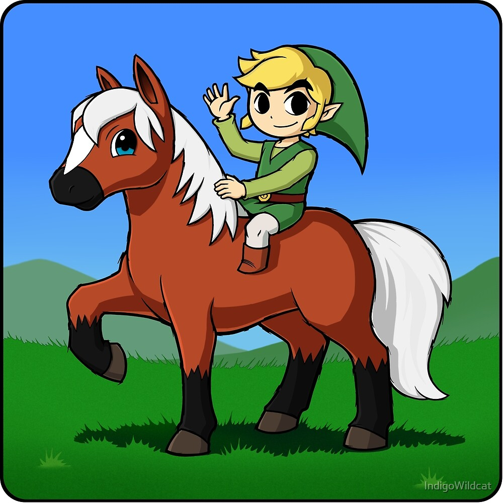 Toon Hero on horseback by IndigoWildcat