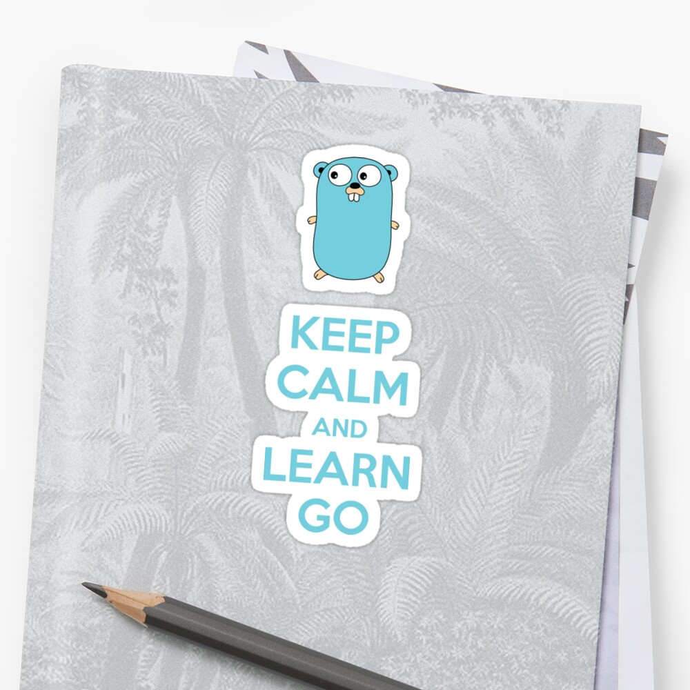 Mantén la calma y aprende Go - Light edition Pegatinas