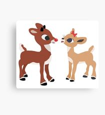 Classic Rudolph and Clarice Metal Print
