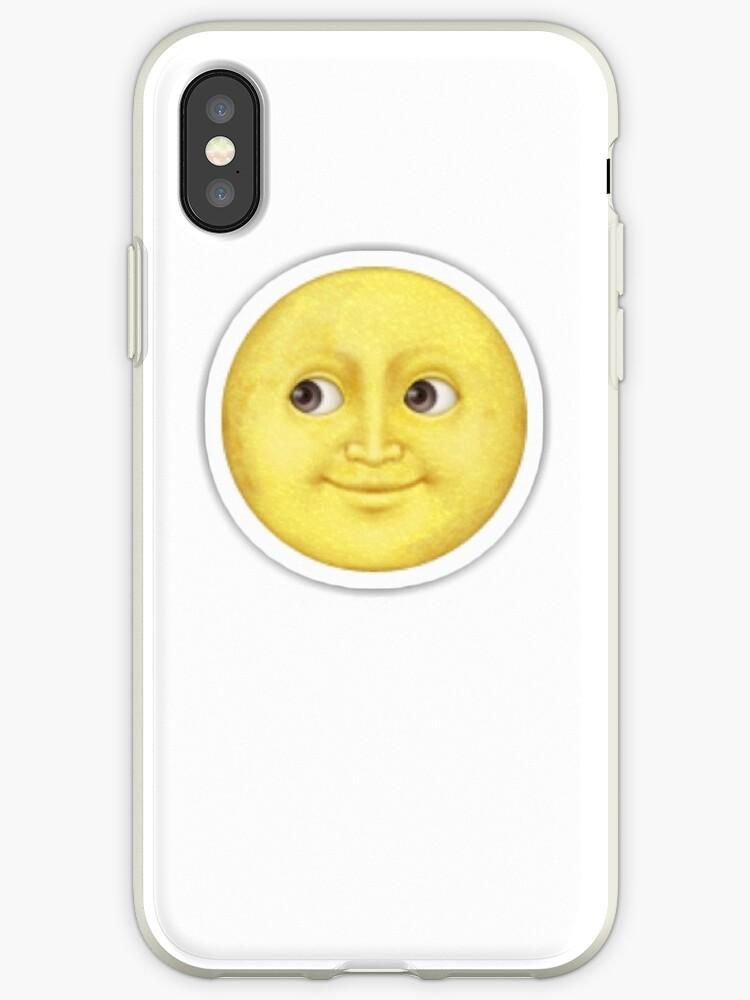 separation shoes 4c880 d57ea 'Yellow moon emoji' iPhone Case by chandnisembhi