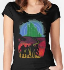 Yellow brick road Women's Fitted Scoop T-Shirt