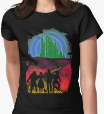 Yellow brick road Womens Fitted T-Shirt