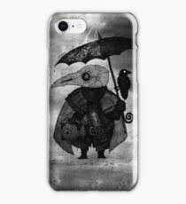 Plague Doctor & Crow in the Rain iPhone Case/Skin