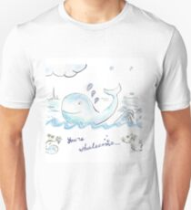 You're whalecome Slim Fit T-Shirt