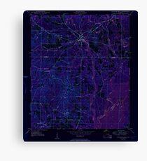 USGS TOPO Map Florida FL Ponce De Leon 348162 1950 24000 Inverted Canvas Print