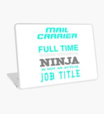 MAIL CARRIER JOBTITLE TEES AND HOODIE Laptop Skin