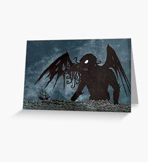Monster in the Storm Greeting Card