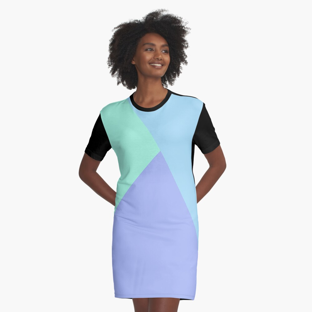 Cold Triangles Graphic T-Shirt Dress Front