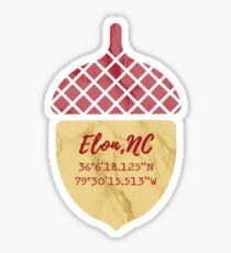 Elon, NC Marble Acorn Sticker