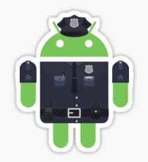 Policía Android Sticker
