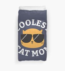 Coolest Cat Mom Duvet Cover